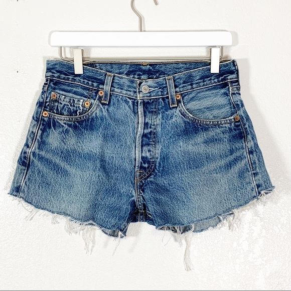 Levi's 501 Vintage Remake Cut Off Denim Shorts